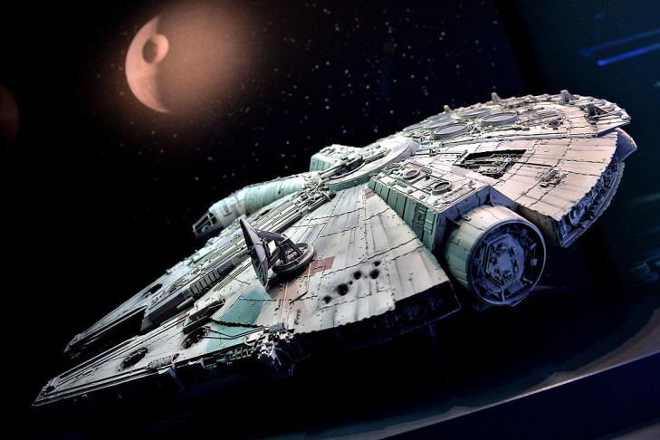 The original model of the Millennium Falcon from Star Wars as seen in Cologne, Germany (Photo by Sascha Steinbach/Getty Images)