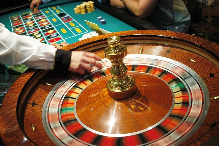The roulette wheel spins at Caesars Atlantic City in Atlantic City, New Jersey. (Photo by William Thomas Cain/Getty Images)