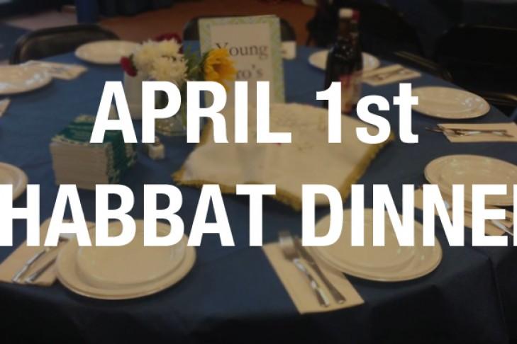 April 1st dinner