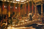"""The Visit of the Queen of Sheba to King Solomon,"" oil on canvas painting by Edward Poynter, 1890"