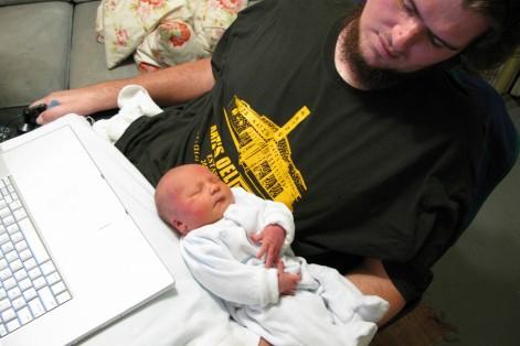 "Patrick O'Brien with his son, Sean (Courtesy ""TransFatty Lives"")"