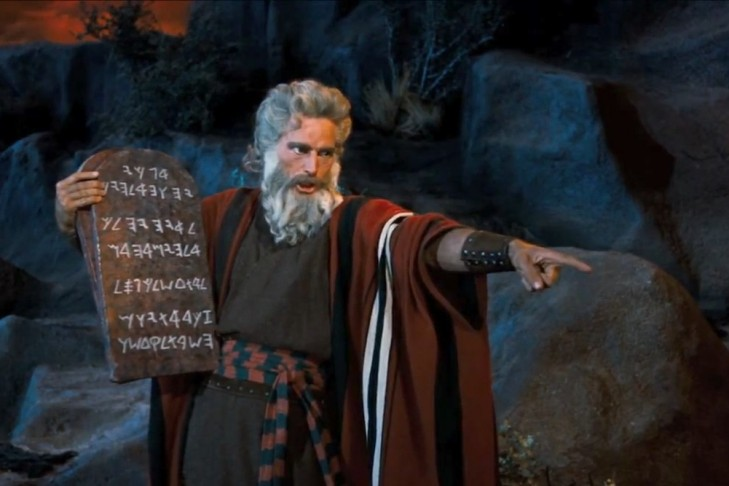 "Charlton Heston in ""The Ten Commandments"" (Promotional still)"