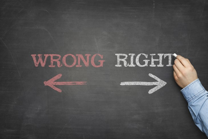 Choosing between wrong and right (Photo: StockFinland/iStock)
