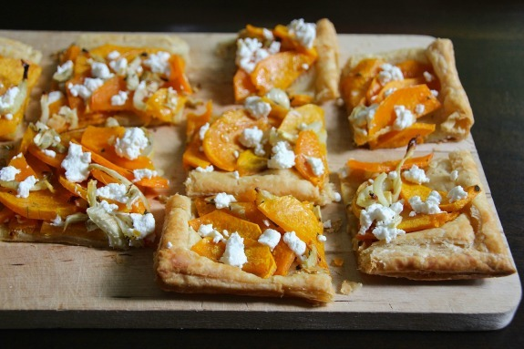 recipe: butternut squash goats cheese puff pastry [3]