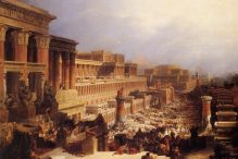 The Israelites Leaving Egypt by David Roberts. Oil on canvas, 1830
