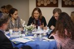 Rabbi Sonia Saltzman and members of Temple Ohabei Shalom studying text at a RSIP inclusion workshop