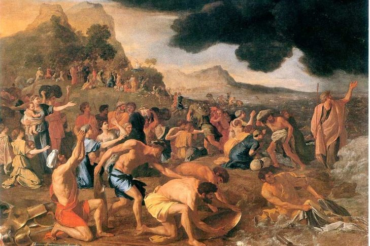 Crossing of the Red Sea by Nicholas Poussin