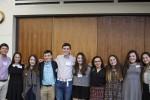 Jewish Teen Foundation students, from left: Matt Gluck, Rachel Coll, Jenny Gliklich, Jonah Skolnik, Nate Orbach, Naomi, Olivia Mamane, Sarah Wilner, Devorah Simon and Hadas Maroun.