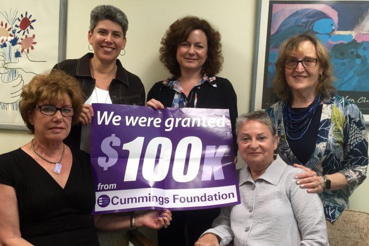 JFS Patient Navigator Team (pictured left to right): Karen Block, Lesley Orlinsky, Amanda Coughlin, Merrill Adler, Malka Young