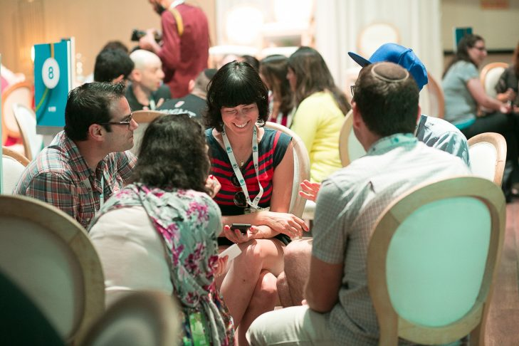ROI Summit participants collaborate and problem-solve about issues in the global Jewish community. (Photo credit: Noa Mager)
