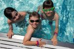 boys swimming Kaleidoscope