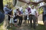 Members of Mishkan Tefila in Newton held a small procession and ceremony at their new home, Kehillath Israel in Brookline. (DINA RUDICK/GLOBE STAFF)