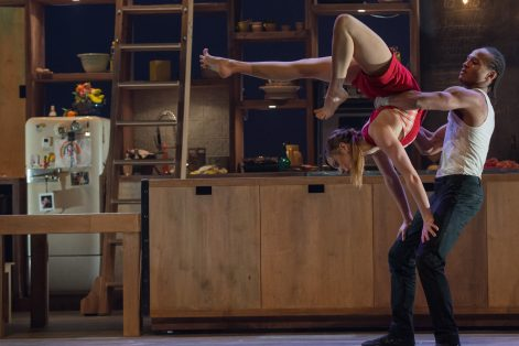 "Anna Kichtchenko and Melvin Diggs in ""Cuisine & Confessions."" (Photo credit: Alexandre Galliez)"
