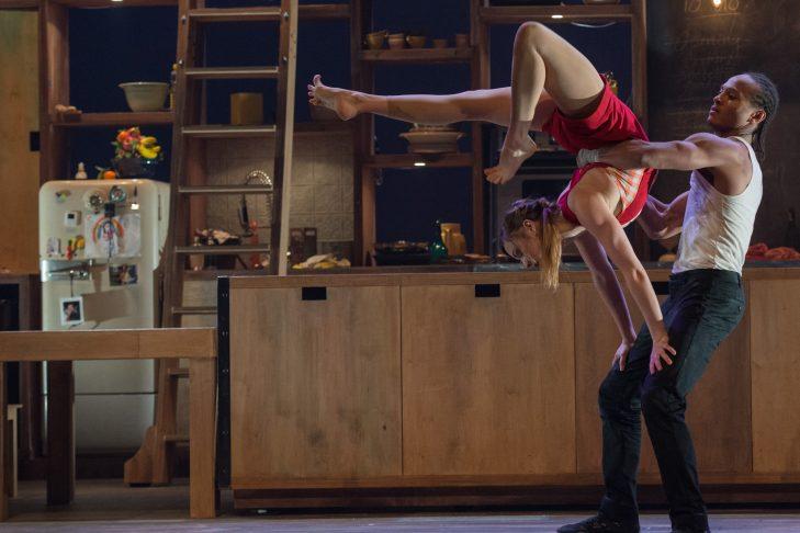 "Anna Kichtchenko and Melvin Diggs in ""Cuisine & Confessions."" (Photo credit: Alexandre Galliez)"