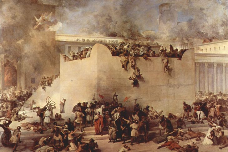 Destruction of the Temple of Jerusalem by Francesco Hayez (Photo: Wikipedia Commons)