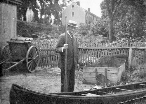 Louis D. Brandeis in 1908, probably at his home in Dedham, where the family spent weekends. (Courtesy Robert D. Farber University Archives & Special Collections Department, Brandeis University)