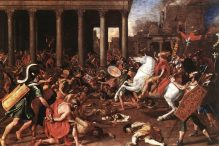 Destruction of the Temple at Jerusalem by Nicolas Poussin