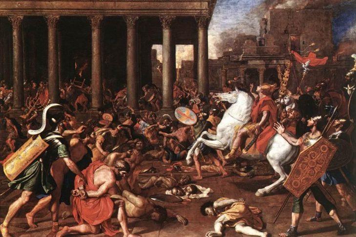 Destruction of the Temple at Jerusalem by Nicolas Poussin