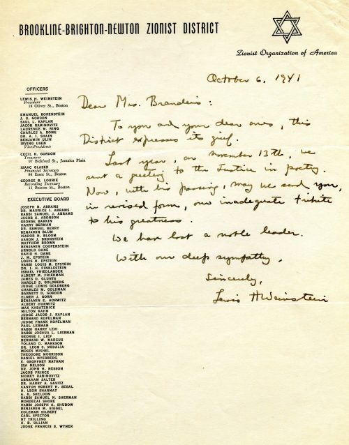 Zionist Letter