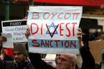 Activists from the BDS movement against Israel (Photo credit: Wikimedia Commons)