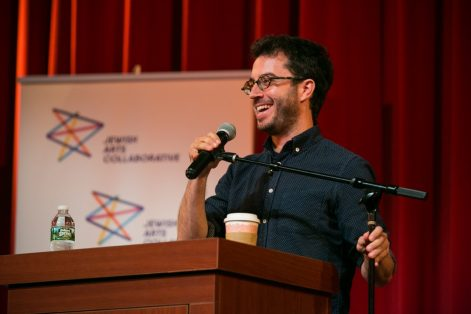 Jonathan Safran Foer at the Coolidge Corner Theatre on Sept. 8, 2016. (Photo credit: Zev Fisher)