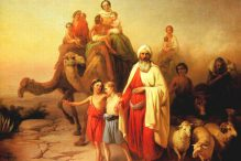 Abraham's Journey from Ur to Canaan(1850) by József Molnár(1821–1899)