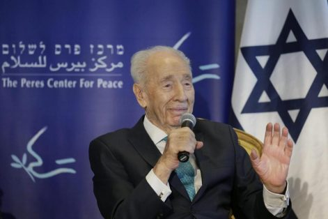 Shimon Peres was a founder of the modern Jewish state. (JIM HOLLANDER/EUROPEAN PRESSPHOTO AGENCY/FILE 2016)