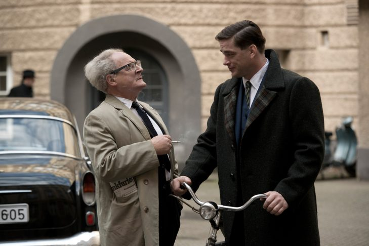 """Burghart Klaussner as Dr. Fritz Bauer and Ronald Zehrfeld as Karl Angermann in """"The People vs. Fritz Bauer"""" (Courtesy Cohen Media Group)"""