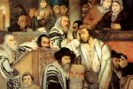 """Jews praying in the synagogue on Yom Kippur"" (1878) by Maurycy Gottlieb"