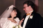 Judy and her husband, Ken, at their wedding in 1991.