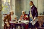 Writing the Declaration of Independence, by Jean Leon Gerome Ferris (1863–1930)