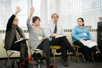 Learning at LimmudBoston. (Photo by Meri Bond Photography)