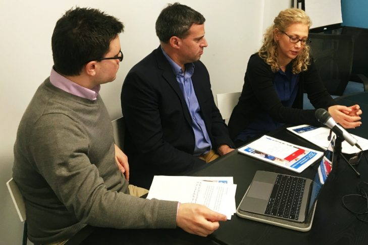 Jesse Ulrich, Gil Preuss and Cindy Janower, from left.