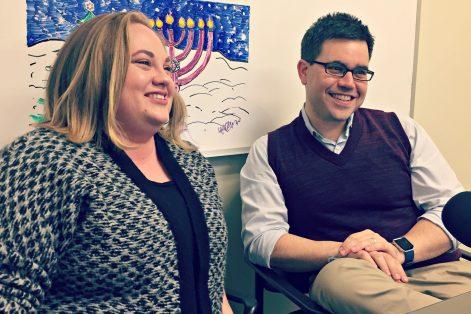 Rabbi Jillian Cameron, left, and Jesse Ulrich.