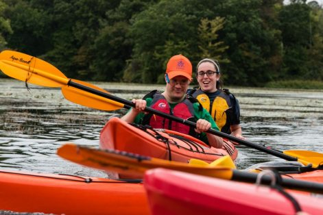 Yachad offers a young adult outdoor adventure club that includes kayaking. (Courtesy Waypoint Adventures)