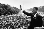 "Martin Luther King Jr. addresses a crowd from the steps of the Lincoln Memorial, where he delivered his famous ""I Have a Dream"" speech during the Aug. 28, 1963, march on Washington, D.C. (Photo: Public domain)"
