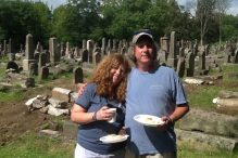 Amy and Josh Degen are helping to restore a Jewish cemetery in Bialystok, Poland.