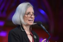 Martha Minow at Harvard University's Sanders Theatre in Cambridge, Mass., Oct. 2, 2013. (Paul Marotta/Getty Images)