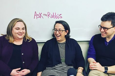 Rabbi Jillian Cameron, Rabbi Jen Gubitz and Jesse Ulrich, from left.