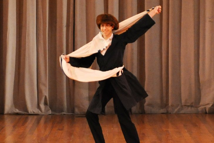 "Yesodot Israeli Dance Troupe of Washington, D.C., performs ""Shtetl"" at the Israel Folkdance Festival of Boston (Courtesy photo)"