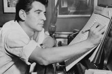 Leonard Bernstein in 1955 (Photo: Library of Congress/New York World-Telegram & Sun Collection)