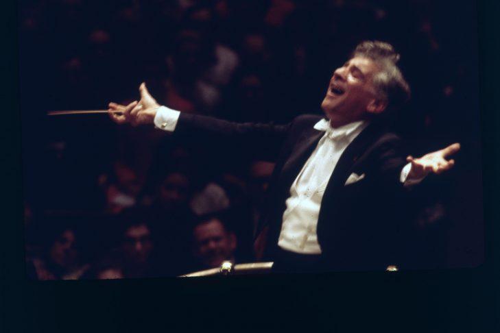 Leonard Bernstein (Photo by Erich Auerbach/Getty Images)