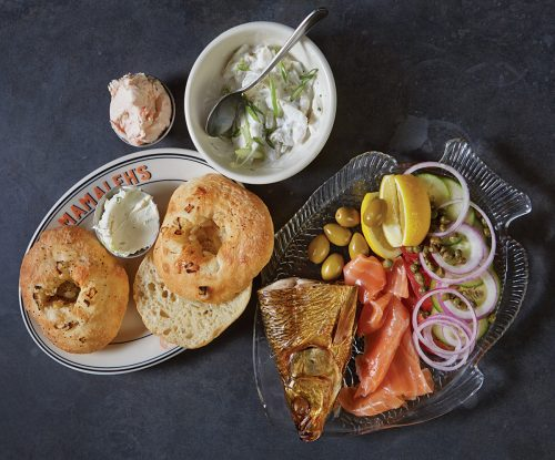 Mamaleh's smoked whitefish and lox with house-baked bialys (Photo: Nina Gallant)