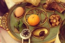 My seder plate from 2015 (Photo: Emilia Diamant)
