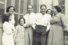 Egypt, 1956: Luna (back left), Joe (center) and Rachel (center right).