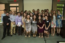 The Jewish Teen Foundation of Greater Boston at last year's ceremony (Courtesy Gann Academy)