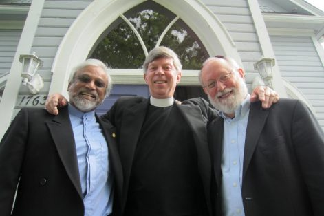 "Imam Jamal Rahman, Pastor Don Mackenzie and Rabbi Ted Falcon, from left, of the ""Interfaith Amigos."""