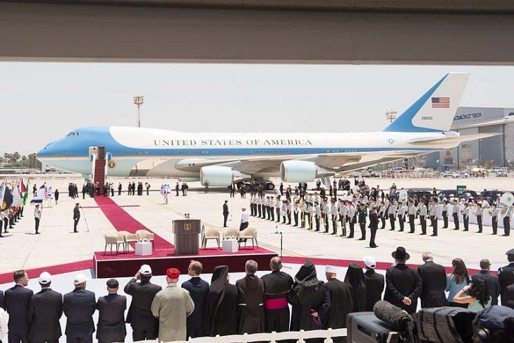President Trump arriving in Israel