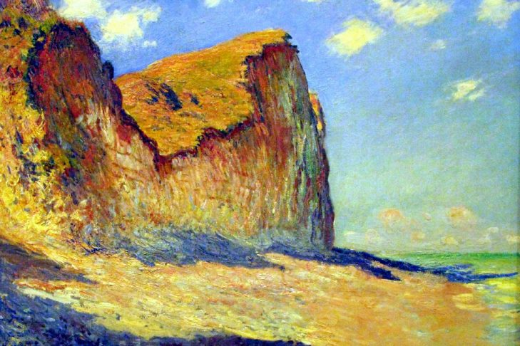 Painting Falaises près de Pourville by Claude Monet(1882)