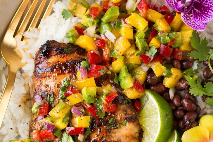 coconut chicken mango salsa